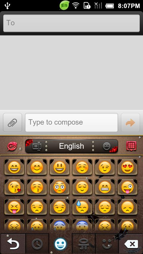 GO Keyboard Black swan theme - screenshot