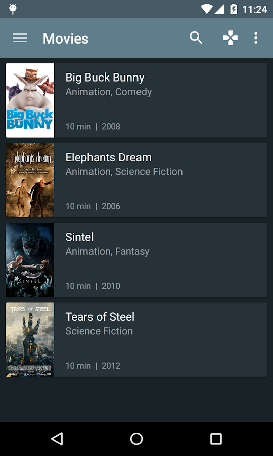 Kore, Official Remote for Kodi: screenshot