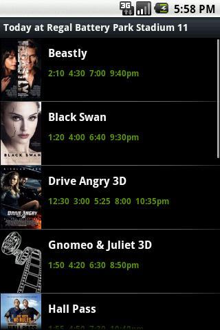 ShowTimes- screenshot