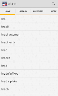 Czech<>Croatian Dictionary- screenshot thumbnail
