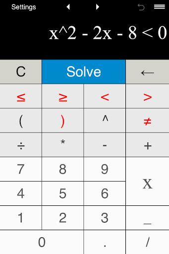 Quadratic Inequality Solver