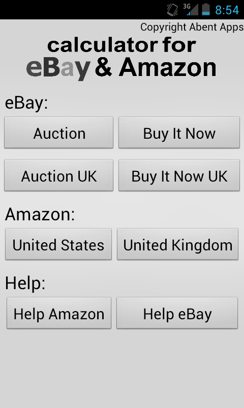 Calculator for Amazon & eBay - screenshot