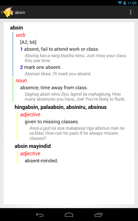 Cebuano-English Dictionary- screenshot