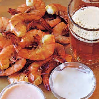 Shrimp with Three Dipping Sauces.
