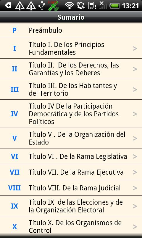 Colombia Constitution- screenshot