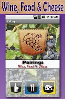 Screenshot of iPairings: Wine, Food, Cheese
