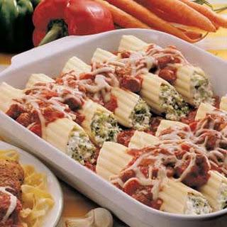 Sausage Broccoli Manicotti