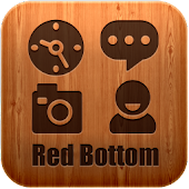 S-Red bottom GO Launcher Theme