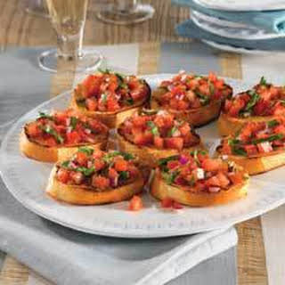 Italian Bread With Tomato Appetizers.