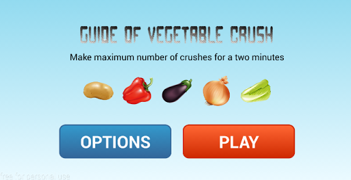 Guide of Vegetable Crush 2015