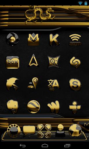 玩個人化App|金ドラゴンの時計ウィジェット免費|APP試玩