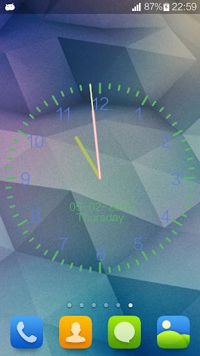 Clock Wallpaper IOS8 Style