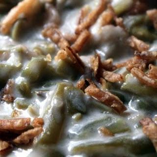 Slow Cooker Green Bean & Alfredo Casserole
