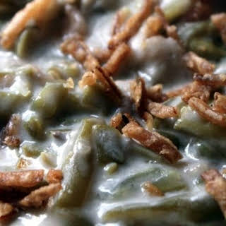 Slow Cooker Green Bean & Alfredo Casserole.