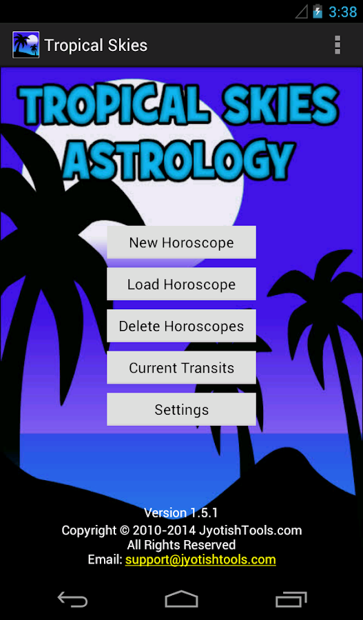 Tropical Skies Astrology - screenshot