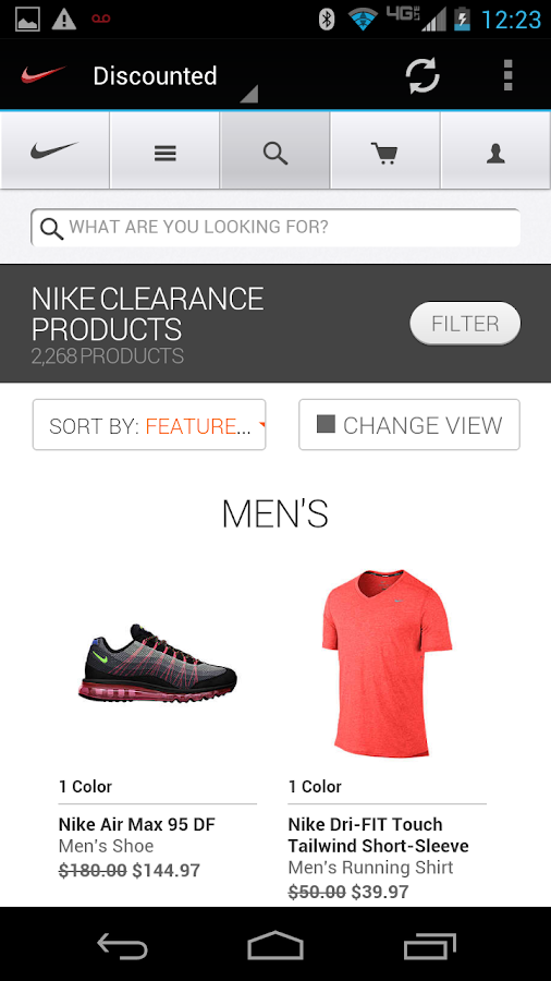 NIKE OUTLET PRO - screenshot