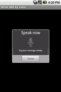 Write SMS by Voice LITE- screenshot thumbnail