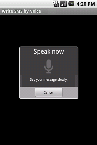 Write SMS by Voice LITE- screenshot
