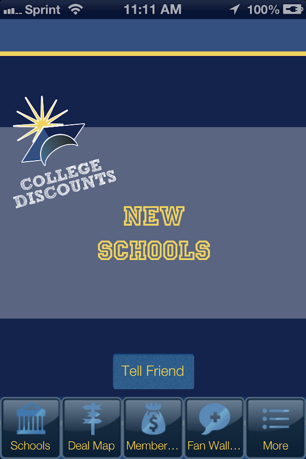 College Discounts- screenshot