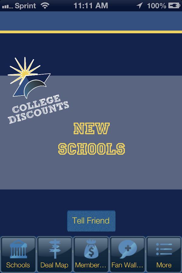 College Discounts - screenshot