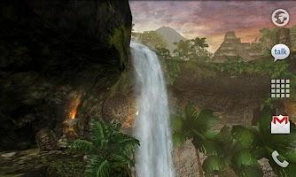 Screenshot of Jungle Waterfall LiveWallpaper