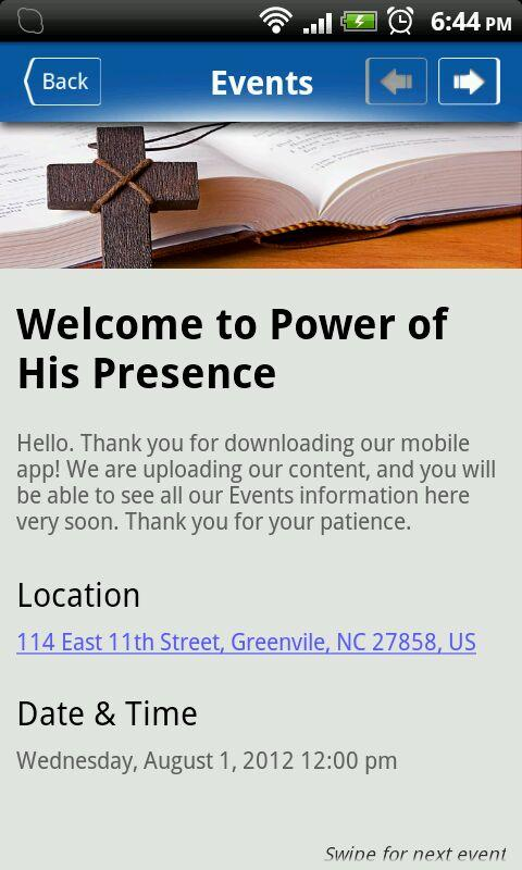 Presence Ministries - screenshot