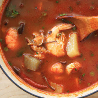 Spicy Korean Seafood Soup.