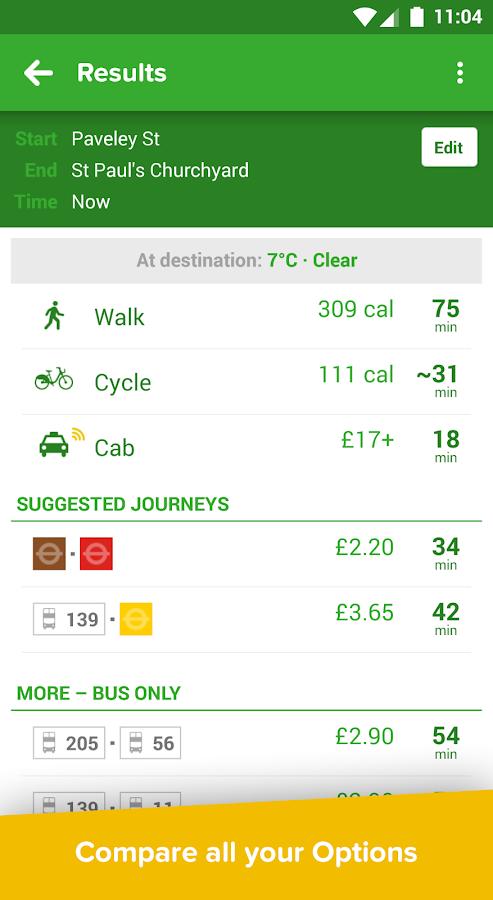Citymapper - Bus, Tube, Rail - screenshot