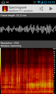 Spectrogram- screenshot thumbnail