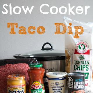 Slow Cooker Taco Dip.
