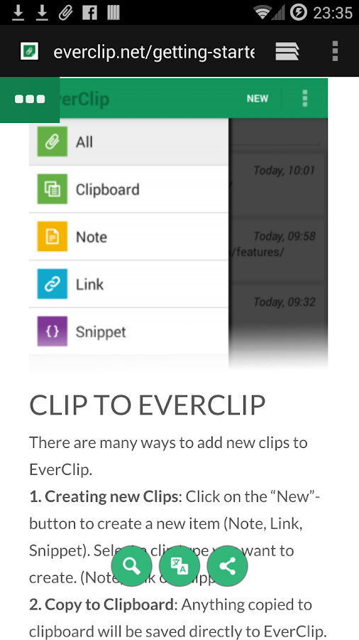 EverClip - screenshot
