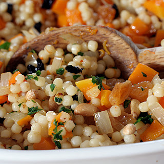 Israeli Couscous with Butternut Squash & Preserved Lemons.
