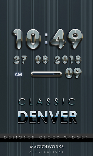 Denver Digital Clock Widget