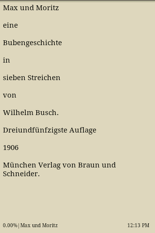 Max und Moritz- screenshot