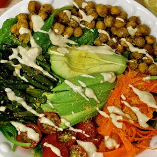 Nourishing Power Bowl With Lemon Tahini Dressing [Vegan, Gluten-Free]