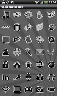 Black GO Launcher EX Theme - screenshot thumbnail