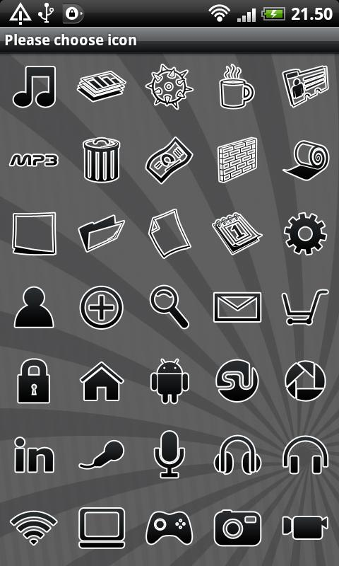 Black GO Launcher EX Theme - screenshot
