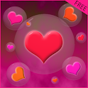 Hearts Bubble LWP Mini Game icon