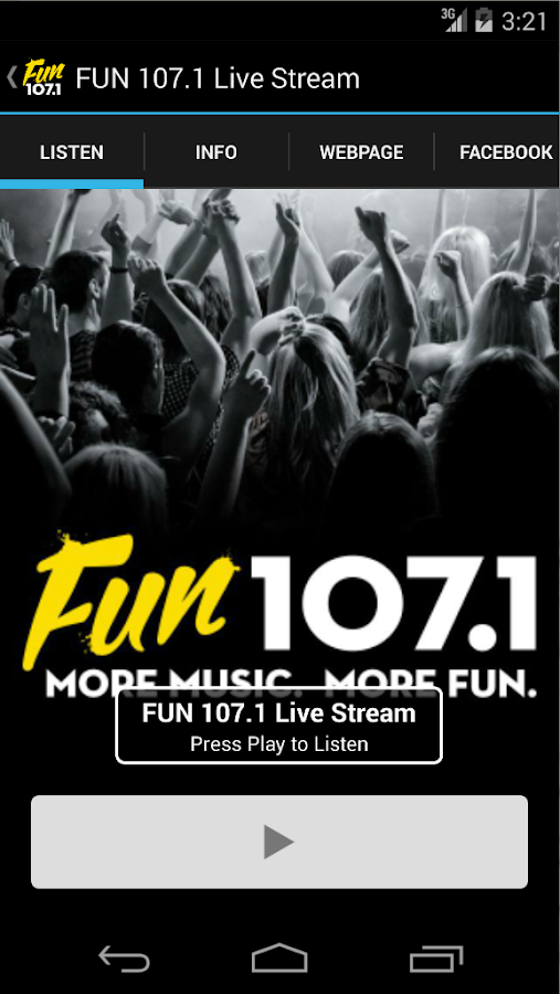 FUN 107.1- screenshot