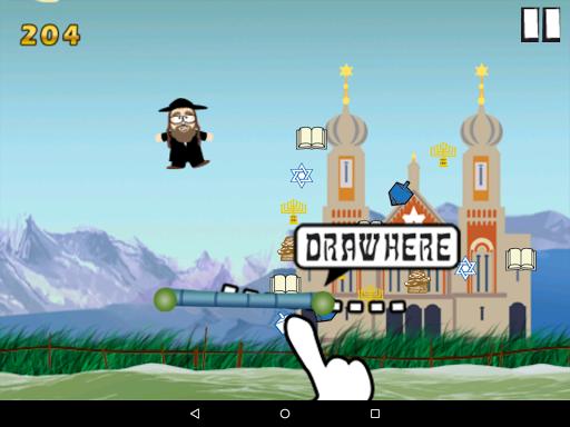 Flying Rabbi - Hanukkah game (apk) free download for Android/PC/Windows screenshot