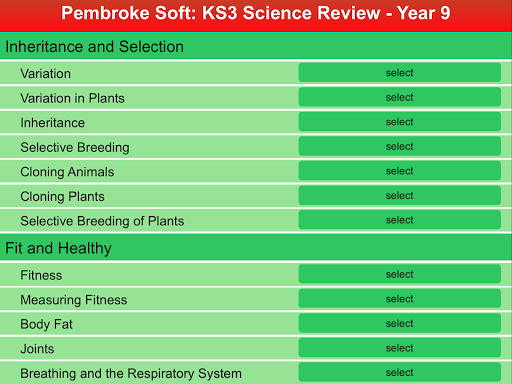 KS3 Science Review - Year 9