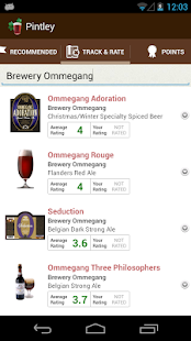 Pintley Beer Recommendations - screenshot thumbnail