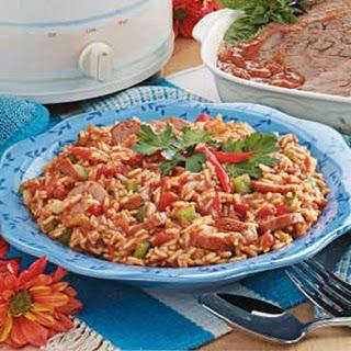 Sausage Spanish Rice.