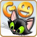 GOSMS/POPUP THEME Black Kitty icon
