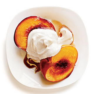 Bourbon-Glazed Peaches With Yogurt