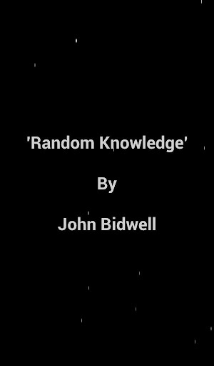 Random Knowledge