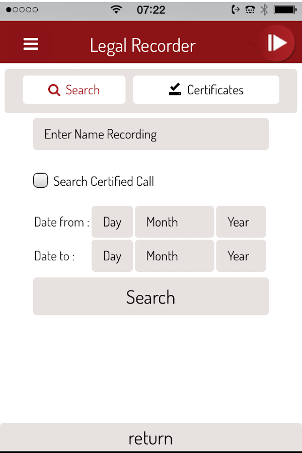 Legal Recorder- screenshot