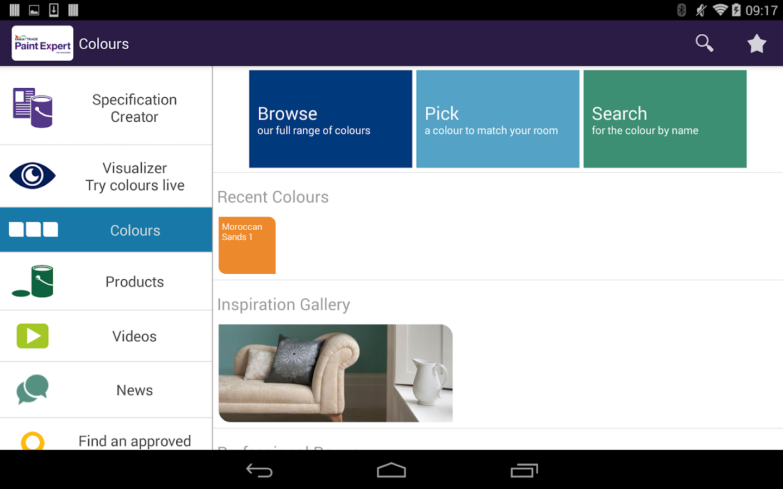Dulux Paint Expert Specifiers Screenshot