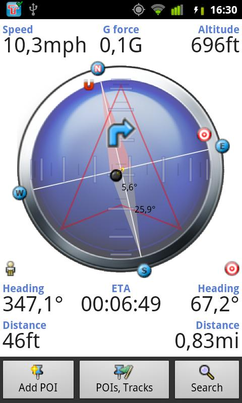 Tracky GPS Navigation+ Compass - screenshot