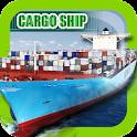 Cargo Ship Extended Crane 3D icon